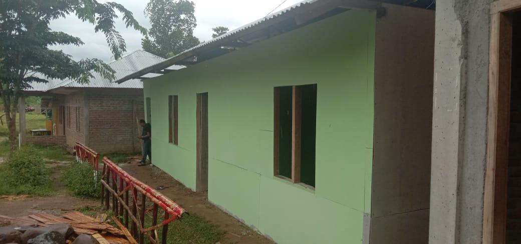 Kondisi Gedung Sekolah  SMK Bina Mandiri setelah  di renovasi